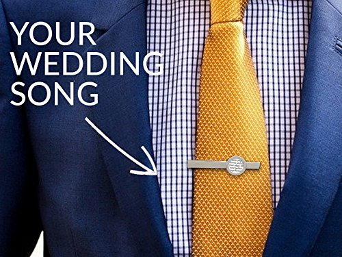Tie-Clip-with-Your-Wedding-Song-Lyrics-First-Anniversary-Gift-Idea-for-Him