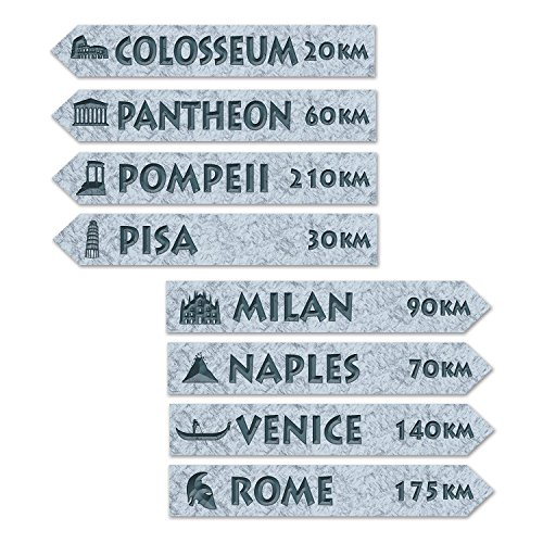 Beistle 54244 Italian Street Sign Cutouts, 3-3/4 by 23-3/4-Inch, (Italian Decorations)