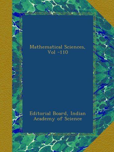 Mathematical Sciences, Vol -110 ebook
