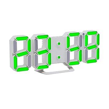 STRIR 3D Despertador Digital, LED Despertador Electrónico, Reloj Digital Moderno, Reloj de Pared