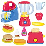 PeeNoke Toy Assorted Kitchen Appliance Toys with Mixer, Blender and Toaster Play Kitchen Accessories