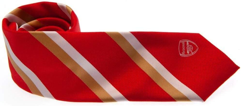 Arsenal FC officiel à Rayures Cravate Rouge-Football Cadeau