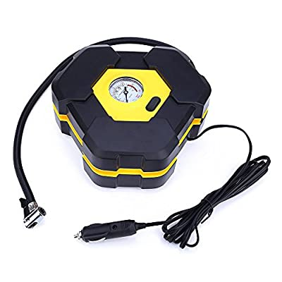 Auto Electric Power Inflator Air Compressor Portable Tire Car Pump 12v 12 Volt for Heavy Duty with Cigarette Lighter Plug 3m length Cord