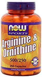 Arginine/Ornithine Now Foods 500 Caps