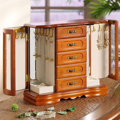 London Collection Two Door Jewelry Box, used for sale  Delivered anywhere in USA