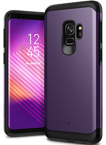 Galaxy S9 Case, Caseology [Legion Series] Slim Heavy Duty Protection Dual Layer Armor Cover for Samsung Galaxy S9 (2018) - Violet (Solid Rubber Purple)