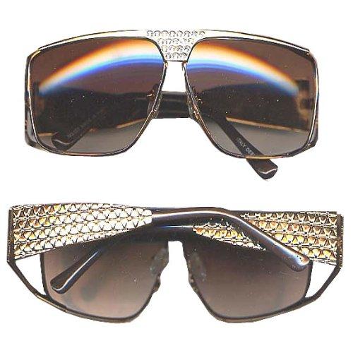 Glass Glitzy (Flashback & Freedom Glitzy Gold Glasses Costume Accessory)