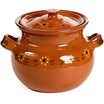 Mexican Traditional Clay Bean Pot - Terracotta