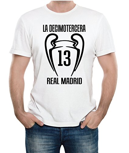 7b286126e6819 Real Madrid 2018 camiseta de campeón de Europa Real Madrid Blanco -  Liverpool Kiev 2018 Champions League Adesivo4You
