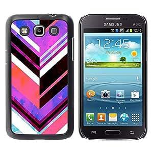 TopCaseStore / la caja del caucho duro de la cubierta de protección de la piel - Purple Abstract Lines - Samsung Galaxy Win I8550 I8552 Grand Quattro