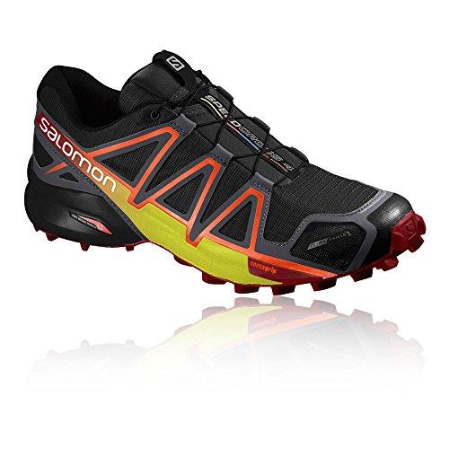 Salomon Männer Speedcross 4 CS Trail Runner Schwarz / Magnet / Rot Dalhia