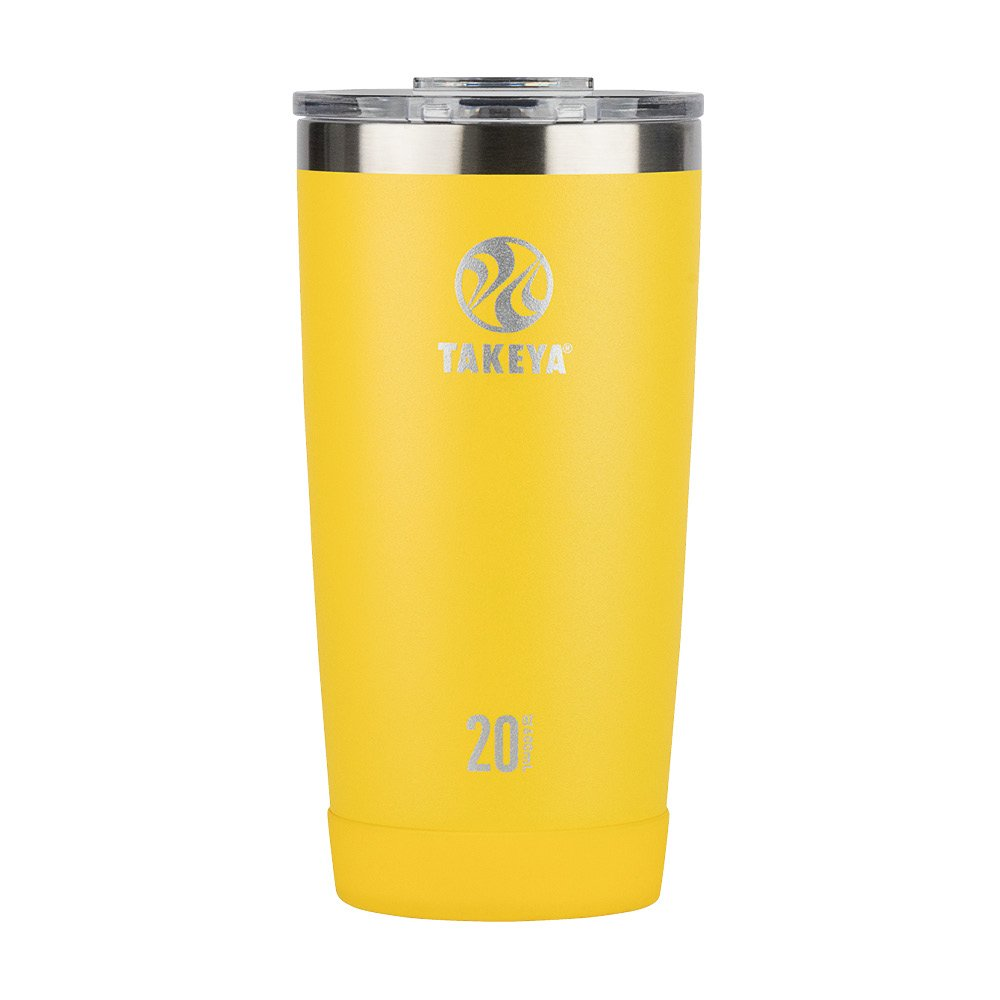 Takeya Actives Insulated Stainless Tumbler with Flip Lid, 20oz, Solar
