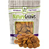 Nature Gnaws Smoked Salmon & Sweet Potato Chips - 100% Natural Grain Free Dog Treats (12 oz)