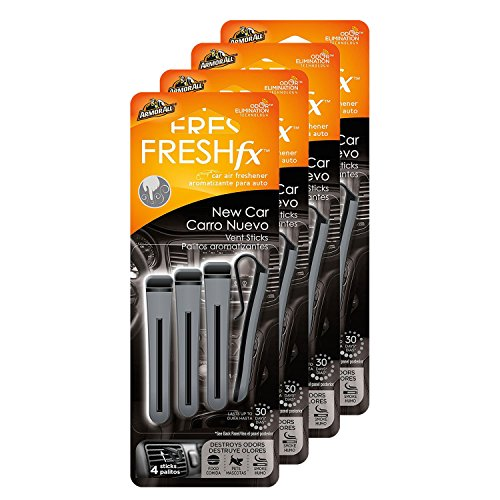 Armor All FRESHfx Car Air Freshener Vent Sticks, 4-Pack (16 Sticks) (New Car)