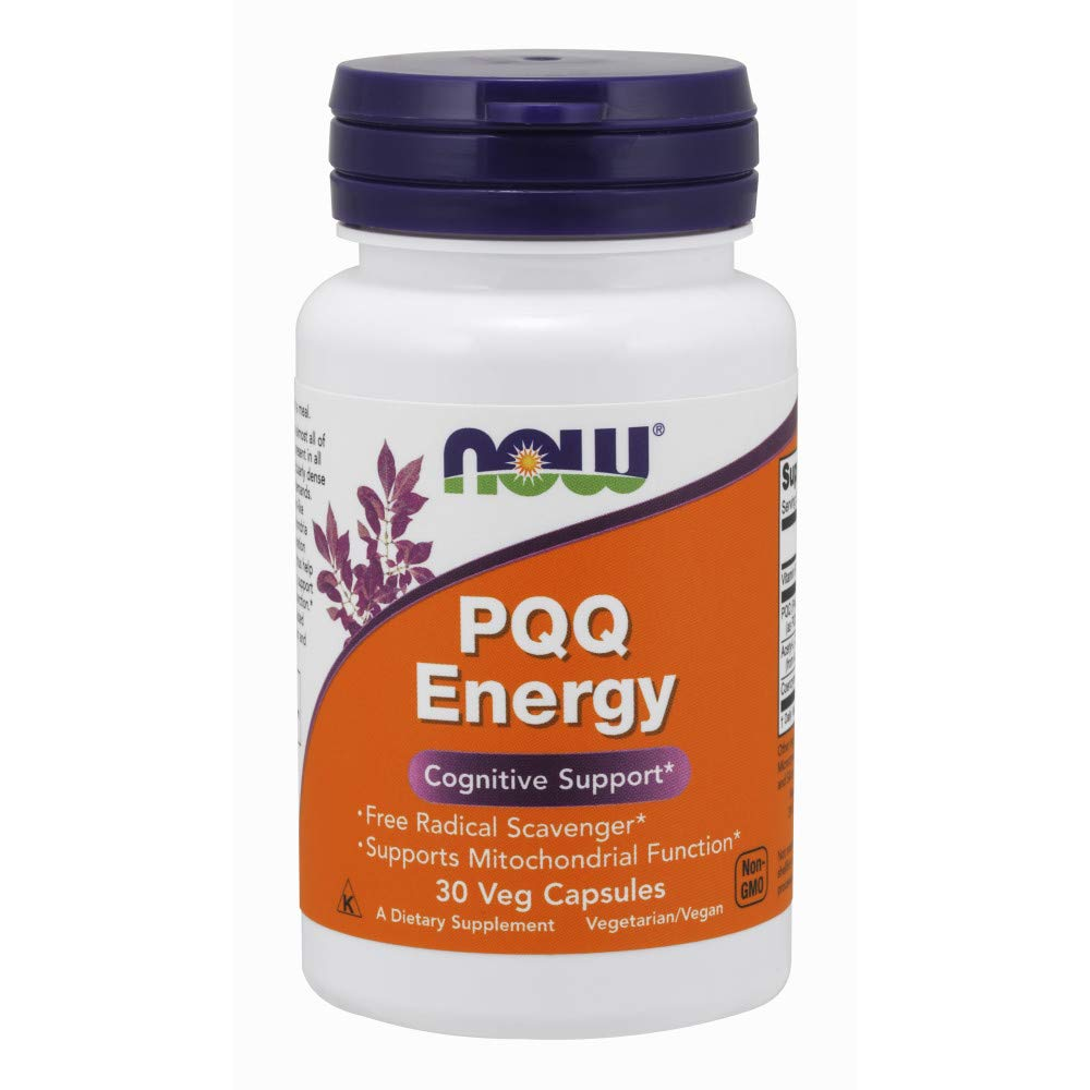 NOW Supplements, PQQ Energy, Free Radical Scavenger*, Cognitive Support*, 30 Veg Capsules
