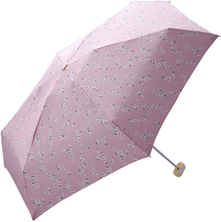 Hexiansheng Folding Umbrellas Travel Umbrellas for Windproof Shades Suitable for Ladies Men Children Small and Portable 17cm Color : Red