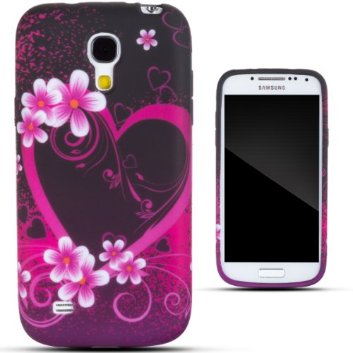 Zooky® Pink TPU heart Case / Cover / Shell for Samsung Galaxy S4 MINI (I9190)