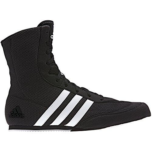 adidas Box Hog Mens Boxing Trainer Shoe Boot Black/White - US 9