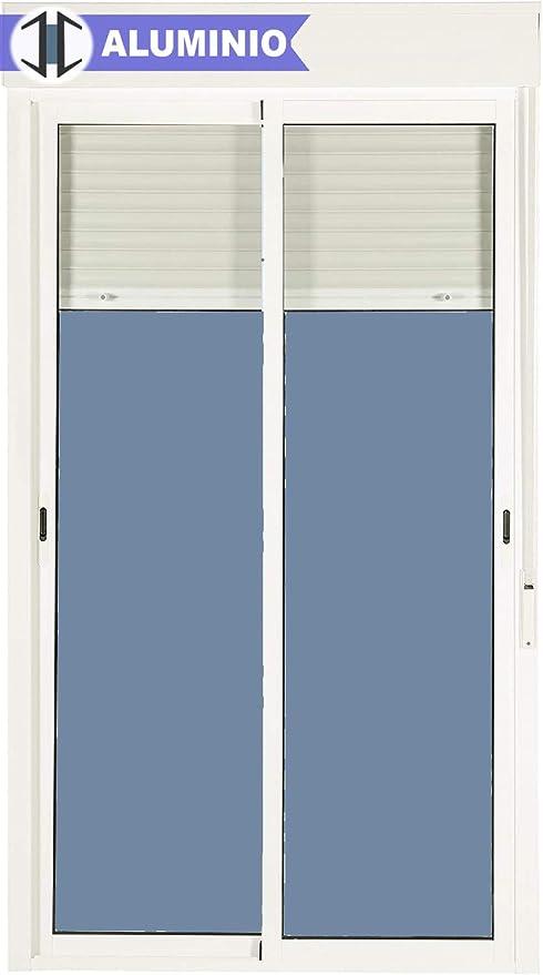 Balconera Aluminio Corredera Con Persiana PVC 1200 ancho × 2185 ...