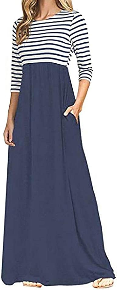 Vestidos Largos Florales de Mujer, Vestido Largo de Manga Larga Boho de Cintura Alta con Bolsillos Mujer, Vestido Camisa Mujer por Venmo: Amazon.es: Ropa y accesorios