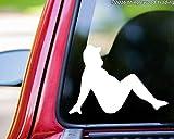 "Mudflap Fat Man - Trucker Girl Country Boy Vinyl Decal Sticker - 5"" x 3.5"" PURPLE"