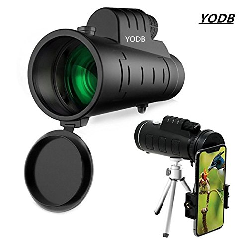 Monocular Telescope High Power50x60 Dual Focus Waterproof Spotting Scopes, Low Night Vision with Phone Clip and Tripod for Cell Phone-for Bird Watching, Hunting, Camping, Hiking, Surveillance, Outdoor by YODB