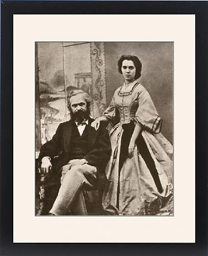 Karl Marx Costume (Framed Print of Karl Marx and his wife, Jenny (nee von Westphalen))