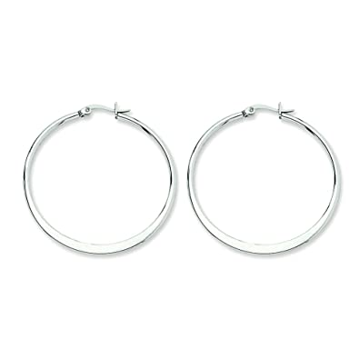 Amazon.com: Pendientes de aro de acero inoxidable, 1.575 in ...
