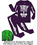 Dolphin&Fish Girls Boys Halloween Pajamas Kids Pjs Skeleton Glow-in-The-Dark Toddler Halloween Clothes 4t