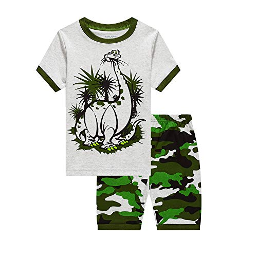 LitBud Toddler Boys Summer Pyjamas for Toddler Kids Dinosaur Short Nightwear Sleepwear Pjs Set Pyjama Size 6-7 Years 7T