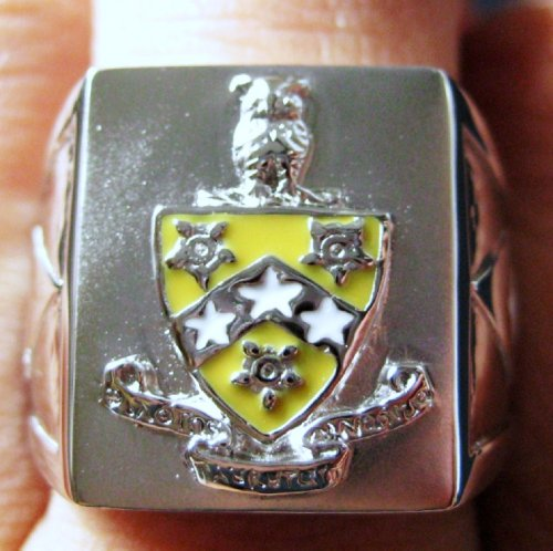 Phi Gamma Delta Crest Silver Ring (FIJI-R001)