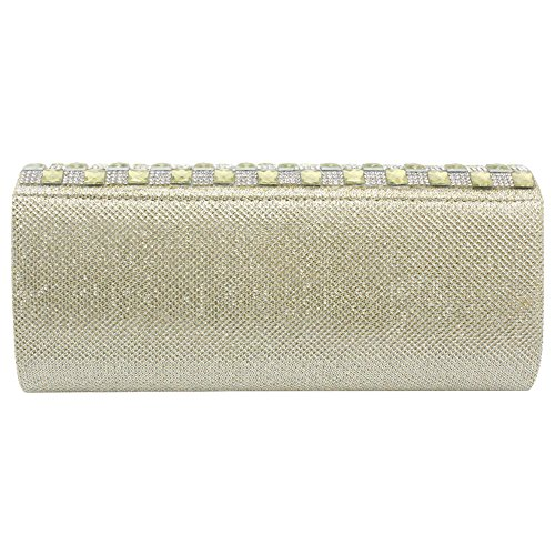 Brand Wocharm Gold Sparkly Evening Bridal Clutch UK Ladies Bag Womens Splendid Delivery Diamante Handbag New Party Prom UUqwnr5Fa