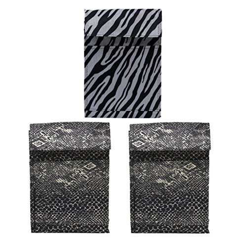 Zebra and Snakeskin Insulated Lunch Bag with Velcro - 3 -