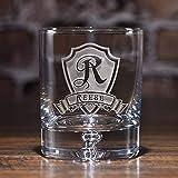 Personalized Crystal Rocks Glass, Whiskey, Scotch, Bourbon Glasses SET OF 4 (M30)