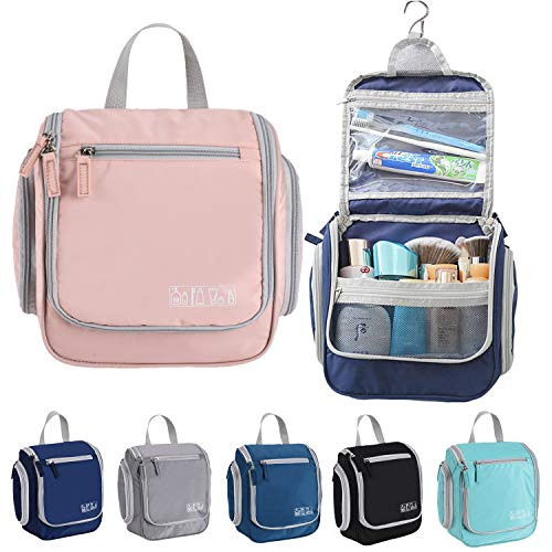 Hanging Toiletry Bag For Women Kids Mens Travel Organizer Bags For Toiletries Pink