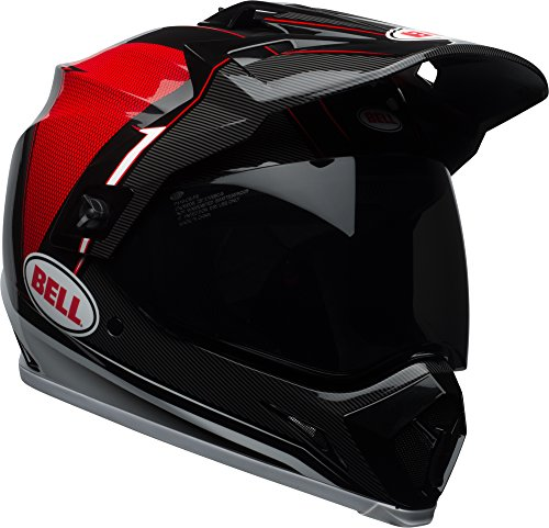 Bell MX-9 Adventure MIPS Full-Face Motorcycle Helmet (Gloss Black/Red/White Berm, - Helmet Face Full Gloss