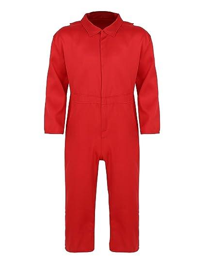 dPois Disfraz Prisionero para Mujer Hombre Unisex Mono Rojo ...