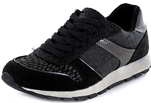 Supremo1621906 - zapatos con cordones Mujer negro