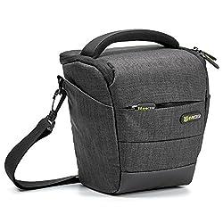 Camera Case, Evecase Digital Slrdslr Professional Camera Shoulder Bag For Compact System, Hybrid, Mirrorless, Micro 43 & High Zoom Camera - Black