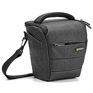 Camera Case, Evecase Digital SLR / DSLR Professional Camera Shoulder Bag for Compact System, Hybrid, Mirrorless, Micro 4/3 and High Zoom Camera - Black