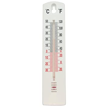 Task 279605 Indoor/Outdoor Stick On Thermometer, White