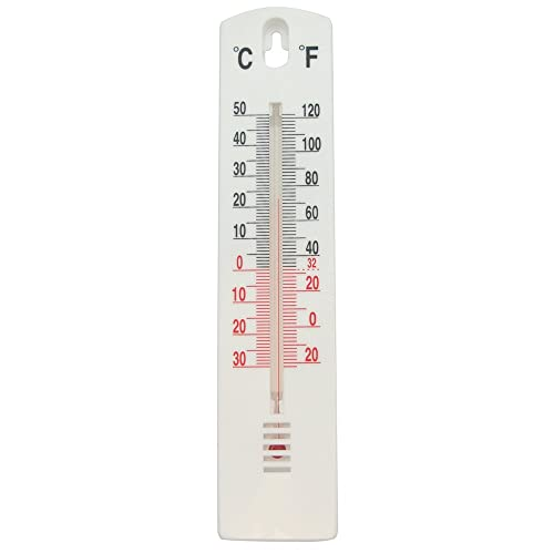 Task 279605 Indoor/Outdoor Stick-On Thermometer, White