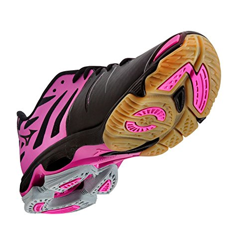 Mizuno Wave Lightning Z Womens Volleyball Shoes - Black & Pink (Womens 11.5) zWVEZkzG4L
