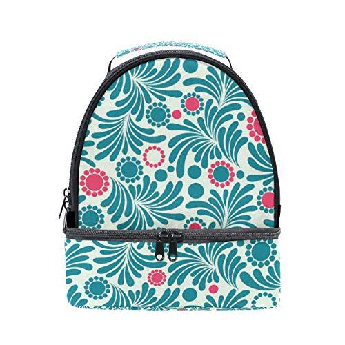 Imprimé floral réglable isotherme Boîte Pincnic bandoulière avec pour Cooler Tote Folpply Sac à lunch l'école à 5qYSBPwdx