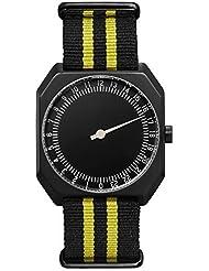 slow Jo 27 - Swiss Made one-hand 24 hour watch, Black / Yellow