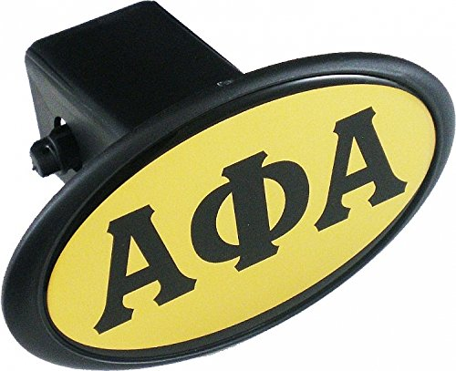Alpha Phi Alpha Mirror Domed Trailer Hitch Cover [Black - 2