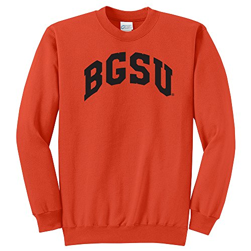 CAA Bowling Green Falcons Arch Classic Crewneck Sweatshirt, X-Small, Orange ()