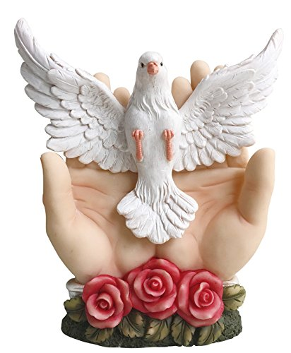 8 Inch Divine Spirit Pendant Holy Spirit Sculpture Wall Mounted Divine Dove