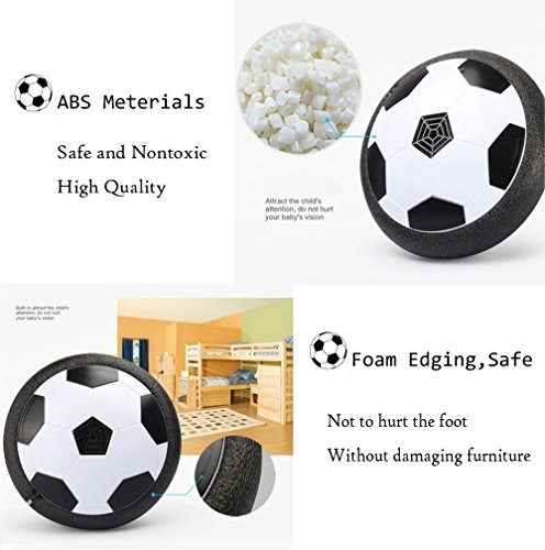 EXSPORT Kids Toy Soccer Products LED Air Power Soccer Disk Indoor Outdoor Hover Ball for Training Football