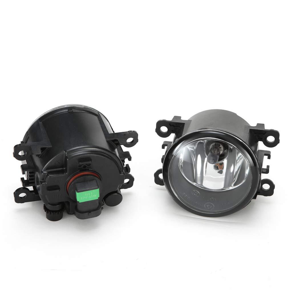 LEDIN Fog Lights for 2006-2014 Suzuki GRAND VITARA OE Style Clear Lens with Switch, Wires, Bulbs